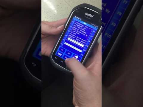 How to replace a modular item at Walmart , using the complex handled  Motorola (MC -40) device