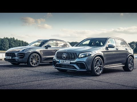 Mercedes-AMG GLC 63 vs Porsche Macan PP | Top Gear: Drag Races