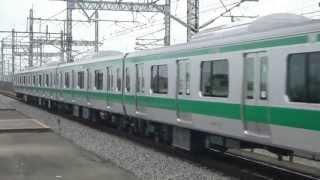 【埼京線】試9401K E233系7000番代ハエ102編成 試運転 与野本町通過
