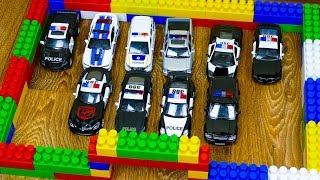 Мультфильм Автовоз перевозит Полицию, Полицейский участок, Полицейские машины 314 Серия Мир Машинок