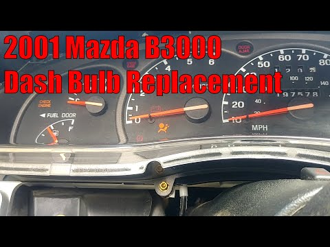 2001 Mazda B3000 - How To Change Dash Bulbs - Also Ford Ranger