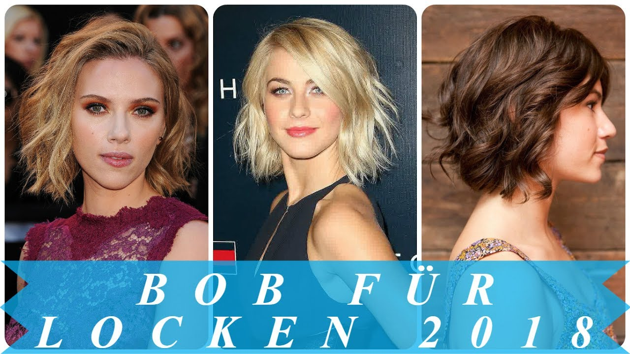 Modische Bob Frisuren Locken 2018