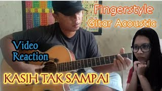 Download Lagu REACTION ALIP BA TA - KASIH TAK SAMPAI (Fingerstyle cover gital acoustic) mp3