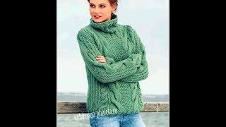 Женский Джемпер Спицами - фото - 2019 / Female Sweater Knitting Needles Photo /Weibliche Strickjacke