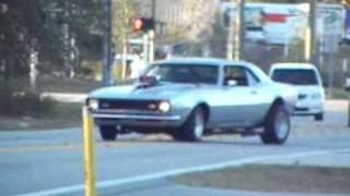 Fun with a Super Street 500hp Blown 1968 Chevy Camaro, Burnouts & Street Racing