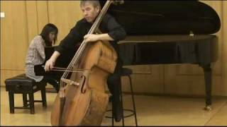 Schumann: Adagio & Allegro  in A flat major, Op. 70 played by Rinat Ibragimov, d-bass.