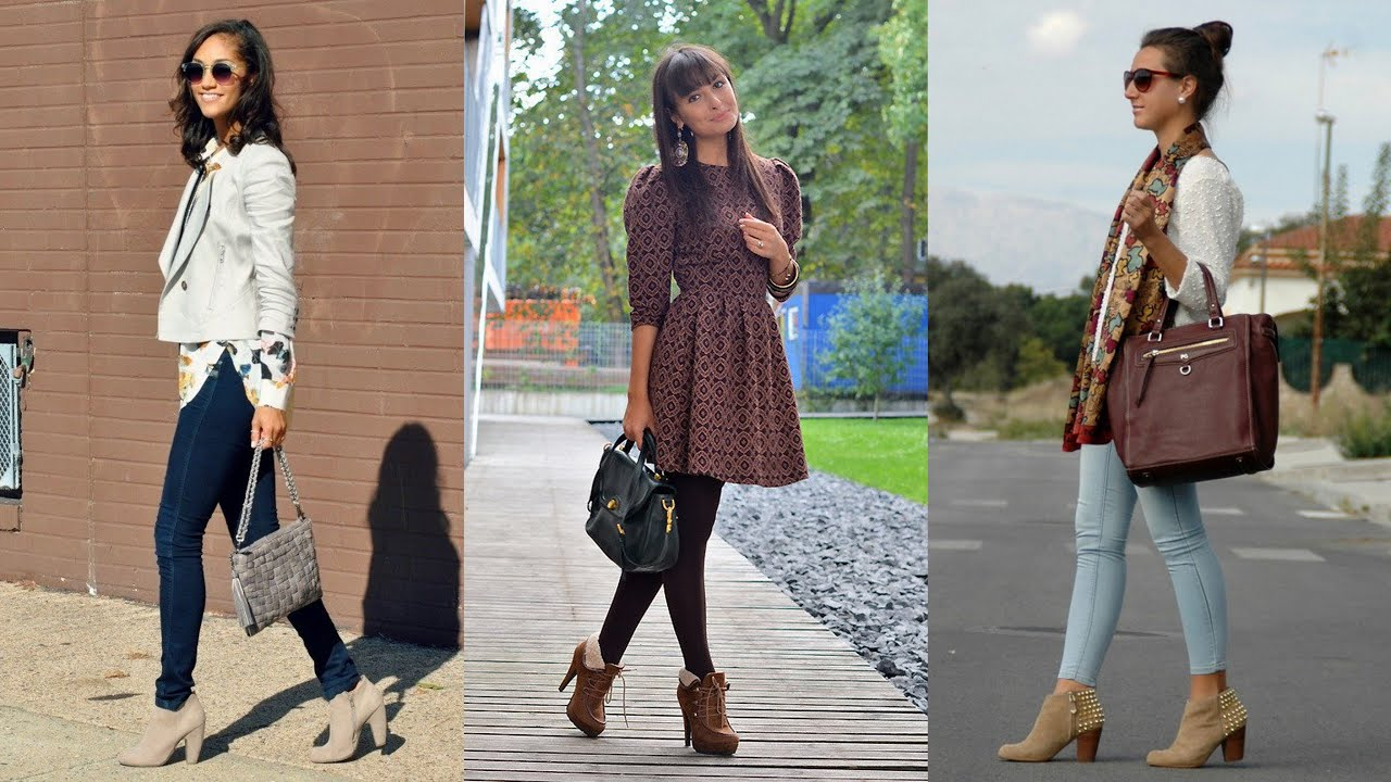 17 Street Style Outfit Ideas With Ankle Boots Youtube