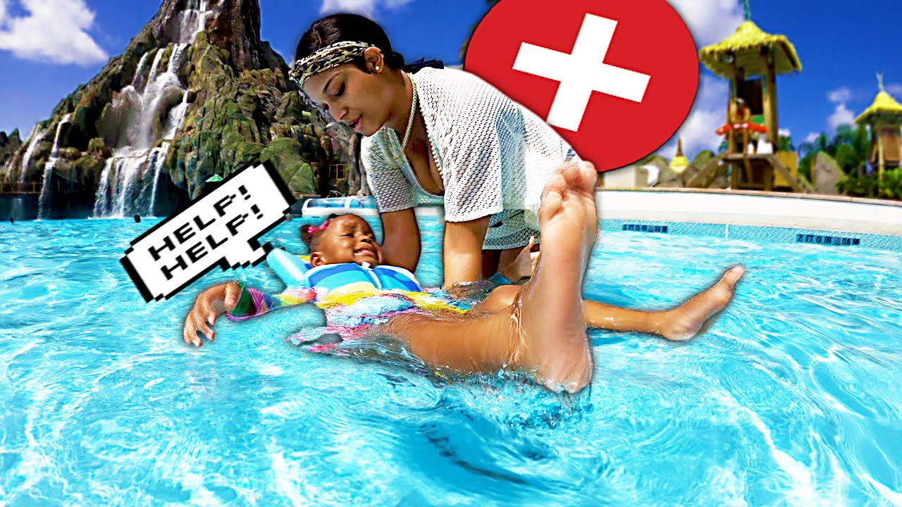 LAYLA catches a PANIC ATTACK while LEARNING HOW TO SWIM!!!   THE BEAST FAMILY