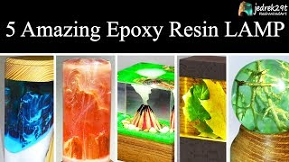 5 MOST Amazing Epoxy Resin LAMP / Tutorial / RESIN ART
