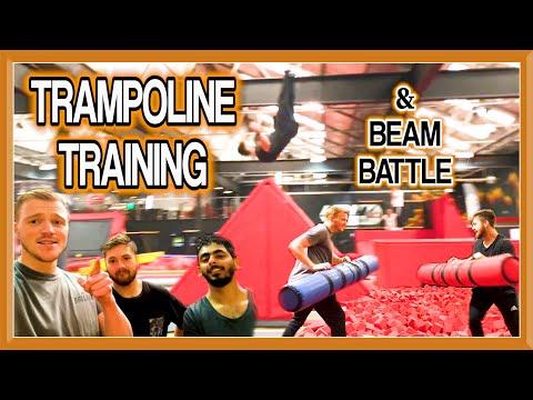 TRAMPOLINE FLIPS & Battle Beam Challenge  | Team GNT
