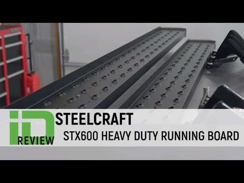 Heavy Duty Truck >> Steelcraft STX600 Heavy Duty Black Running Boards - YouTube