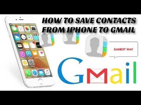 EASIEST WAY TO BACKUP CONTACTS ON IPHONE WITHOUT USING ICLOUD.
