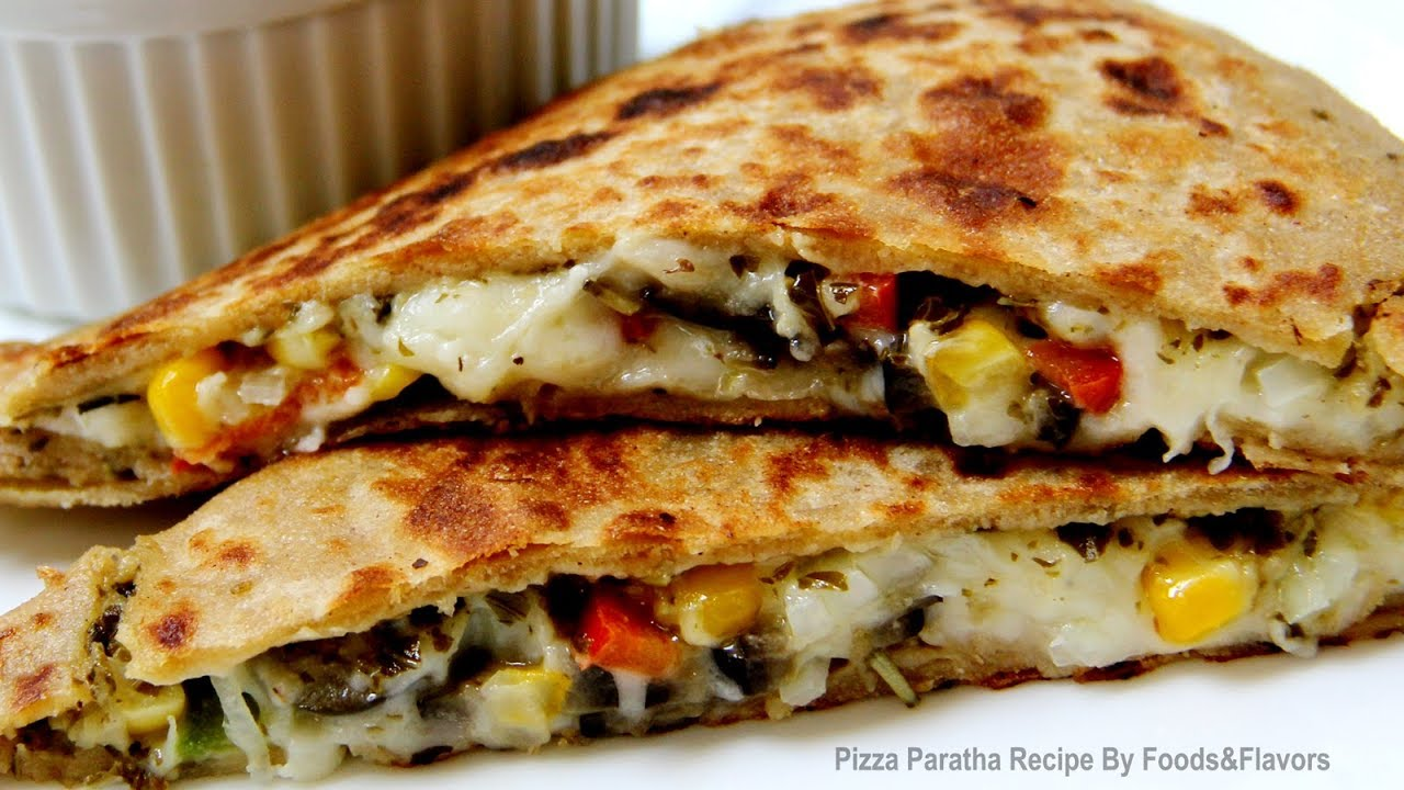 Pizza Paratha Recipe-Indian Veg Brunch breakfast recipes and kids ...