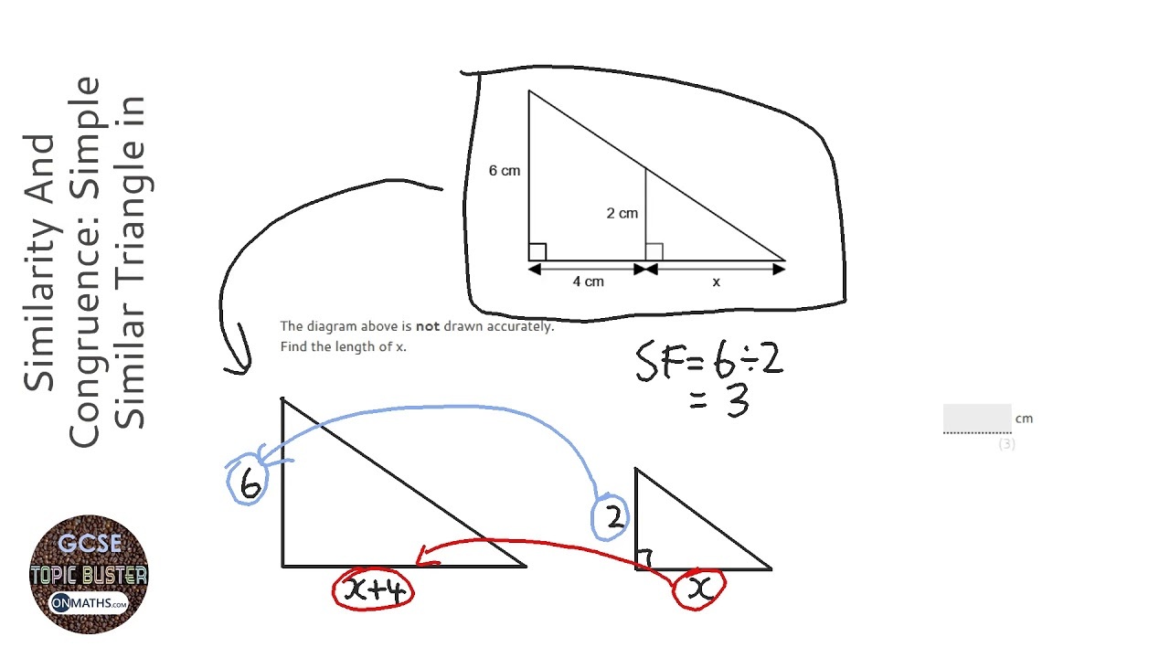 Similarity And Congruence: Simple Similar Triangle in
