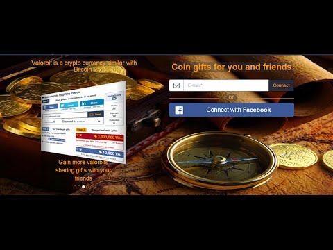 عملة جديدة 2016 Valor Bit منافسة Bitcoin احصل عليها من Facebook Twitter