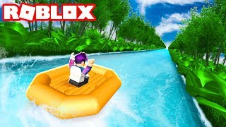 RAFTING DOWN THE LONGEST RIVER IN ROBLOX
