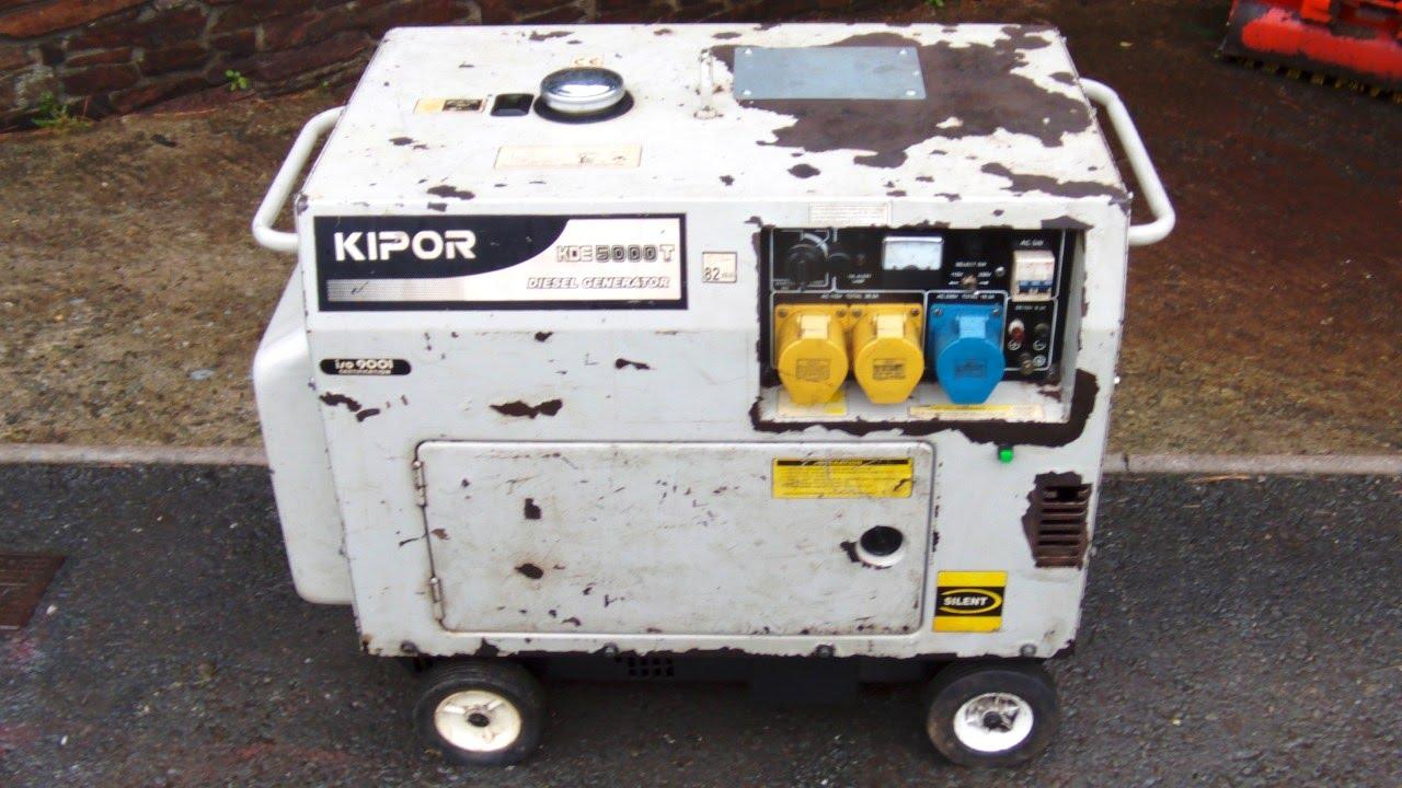 KIPOR KDE5000T Diesel Generator Silent Type 5kVA/5kW KDE6500T