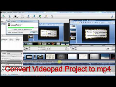 Convert Videopad Project to mp4