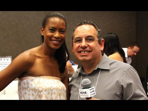 Kearran Giovanni of Major Crimes at GBK Emmy Suites