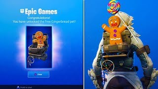 *NEW* FREE GINGERBREAD PET in Fortnite Battle Royale! (Season 7 Gingerbread Set REWARDS!)