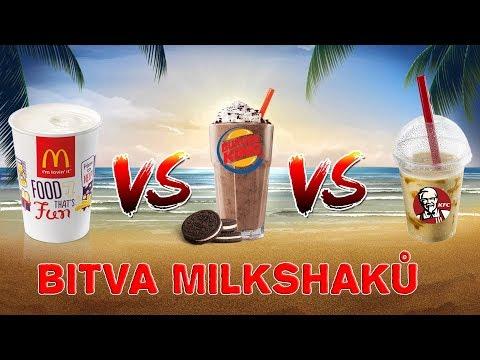 KFC vs. McDonald's vs. Burger King - BITVA O NEJLEPŠÍ MILKSHAKE!