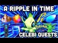 CELEBI A RIPPLE IN TIME QUEST LIST 1-7 IN POKEMON GO | HOW TO GET CATCH CELEBI
