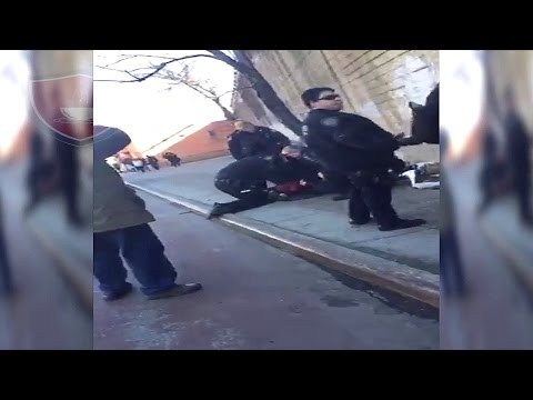NYPD Fights With Subject Who Is Resisting Arrest | New York City Police Department Arrest