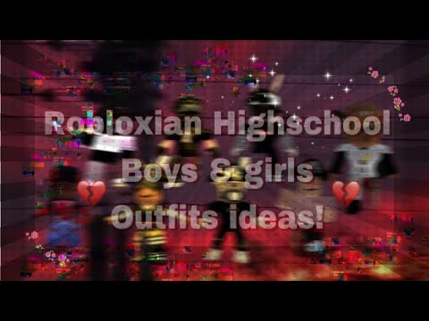 Boy Outfits For Robloxian High School Robloxian Highschool Boys Girls Outfit Ideas Youtube