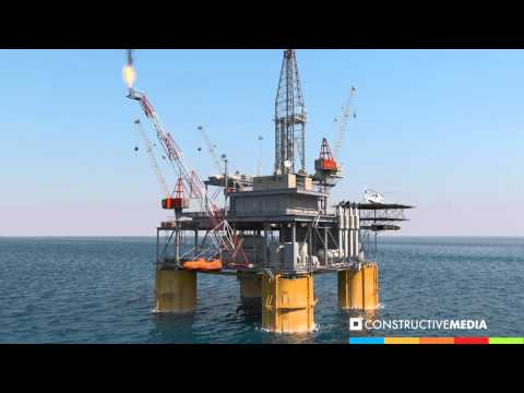 3D Oil Rig Scene