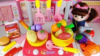 Baby doll and Kitchen food toys Surprise eggs car play 아기인형 주방 음식 서프라이즈 에그 자동차 장난감놀이 - 토이몽