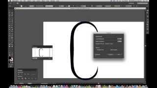 Het Maken van een lange gebogen C aangepaste vorm in Illustrator tutorial