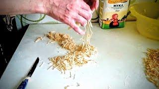 Лапша Рецпт домашняя лапша пошагово приготовить ужин домашние классический быстро вкусно видео