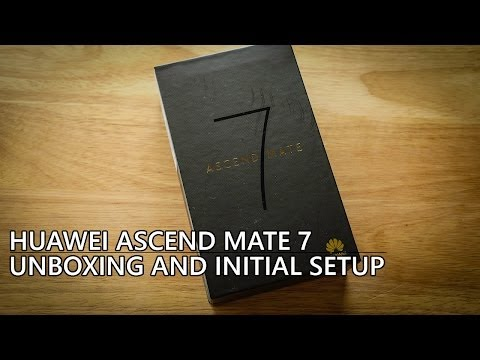 Huawei Ascend Mate 7 Unboxing and Initial Setup