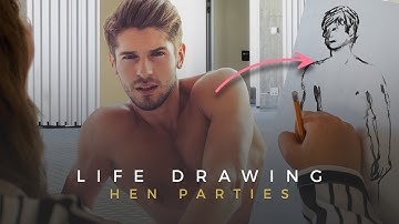 LIFE DRAWING HEN PARTY ACTIVITY | Hunky Nude Male Models Posing