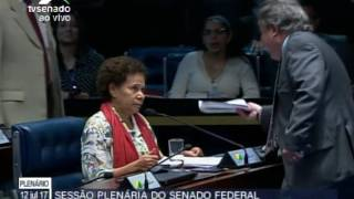 Barraco no Senado