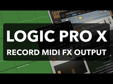 Logic Pro X - Record MIDI FX Output as MIDI