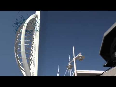 Windows blown out of Spinnaker Tower