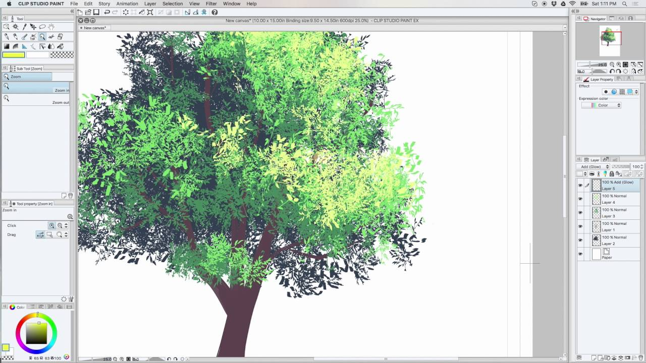 CSP Color Foliage Brush Tutorial
