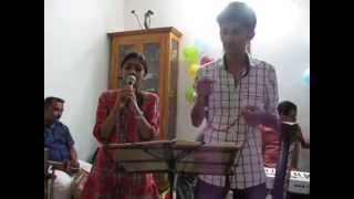 Balagovind & Shreya singing Oru Mezhuthiriyude ...