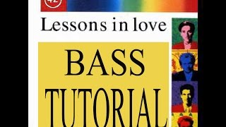 Lessons in Love - Bass Tutorial - Mark King - Slap bass lesson