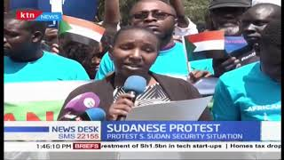 Sudanese hold demonstration demo in Nairobi to protest Sudan security situation