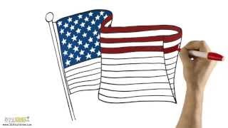 "Download ""USA Flag"" HD Screensaver - 321 FastDraw - Whiteboard Animation"