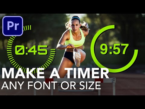 Create Animated Timer FAST | any font or size | Premiere Pro 2020