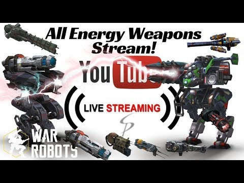 War Robots - Live with Stew! Nothing but Energy Weapons!  Scourge, Zeus, Taran, and more!