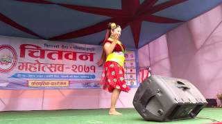 Neelam Dhungana Dancing on a Leg