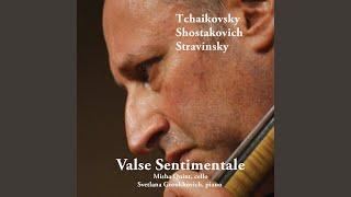 Suite Italienne (After Pulcinella) , For Cello and Piano: III. Aria: Allegro alla breve. Largo