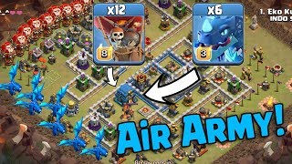 Max Electro Dragon Max Balloon Attack | New Air Army 3 Star War Attack TH12 | Clash Of Clans war
