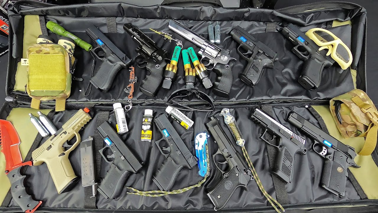 General's Weapon Bag !! Airsoft Guns, Fully Automatic and Semi-Automatic Weapons / Blow off targets