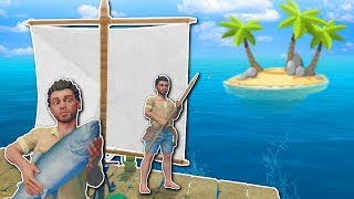 SAILING & ISLAND EXPLORATION! - Raft Multiplayer Gameplay - Survival Raft Building