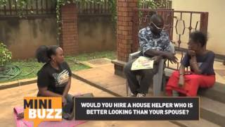 Zzizinga gets excited by a beautiful maid | Minibuzz Uganda